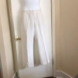White linen pants, size 16